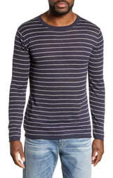Onia Kevin Voyage Linen Blend Long Sleeve T-Shirt
