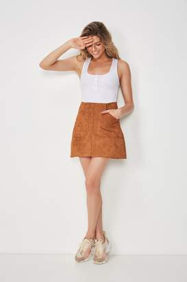 Supre Faux Suede Patch Pocket Skirt