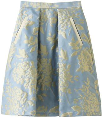LANVIN en Bleu (ランバン オン ブルー) - ランバン オン ブルー コットンフラワージャガードスカート