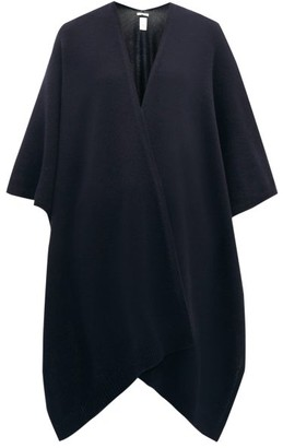 The Row Hern Cashmere Cape - Womens - Navy
