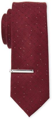 Calvin Klein Slim Red Shooting Star Silk Tie