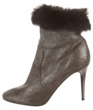 Jimmy Choo Shearling-Lined Ankle Boots