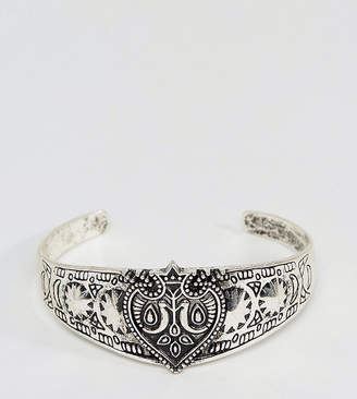 Reclaimed Vintage Inspired Engraved Bangle In Silver Exclusive To ASOS