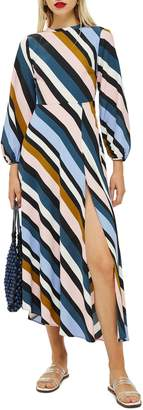 Topshop Open Back Midi Dress