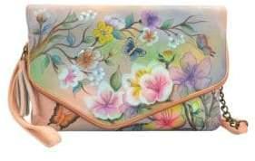 Anuschka Convertible Leather Envelope Clutch Wristlet
