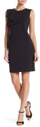 Bebe Front Ruffle Sheath Dress