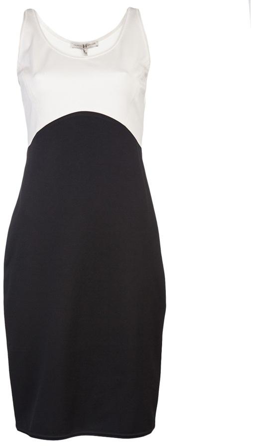 Halston Colorblock ponte dress
