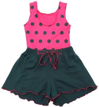 La Stupenderia Polka Dot Lycra Swimsuit & Jersey Shorts