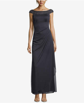Xscape Evenings Petite Beaded & Ruched Gown
