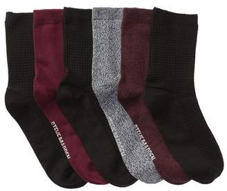 Steve Madden Super Soft Crew Socks - Pack of 6