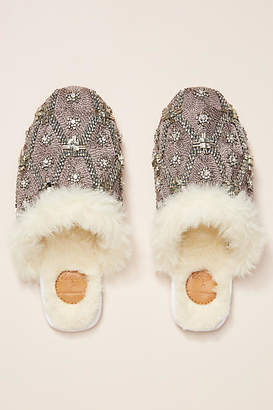 Anthropologie Deepa x Heather Beaded Slippers