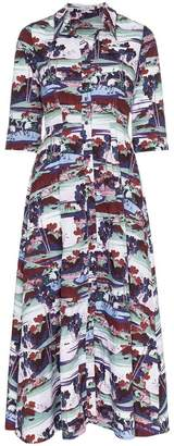 Erdem kasia mizuno land poplin dress