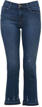 J Brand Blue Stone Cropped Jeans