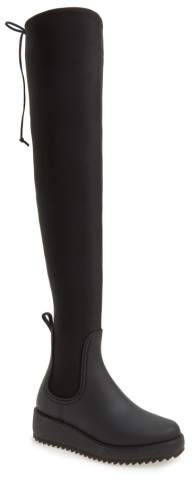 Women's Jeffrey Campbell Monsoon Over The Knee Platform Rain Boot