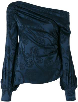 Peter Pilotto satin jacquard blouse