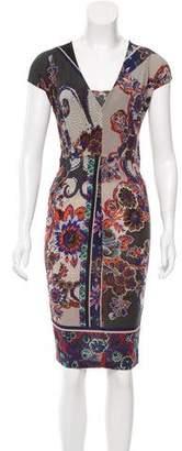 Etro Floral Print Midi Dress