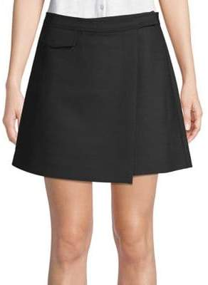 Theory Canton Bi-Stretch Wrap Mini Skirt