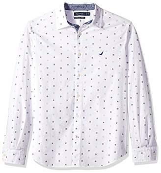 Nautica Men's Stretch Long Sleeve Mini Critters Button Down Print Shirt