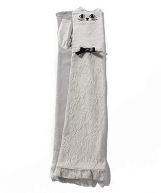 アクシーズファム 猫刺繍レース重ねUV手袋