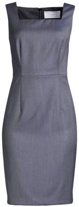 BOSS Digela Mini Pattern Natural Stretch-Wool Dress