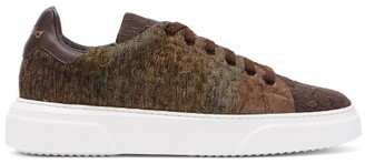 By Walid Chinese Lace Embroidered Trainers - Mens - Grey