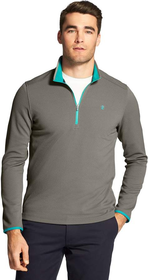 Izod Men's IZOD Advantage Performance Pocket Fleece Quarter-Zip Fleece Pullover