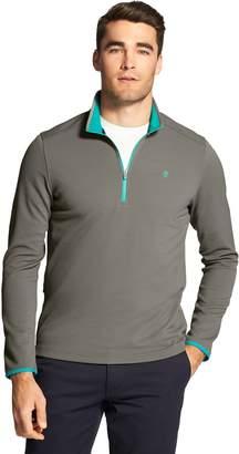 Izod Men's Advantage Performance Pocket Fleece Quarter-Zip Fleece Pullover