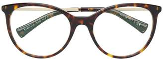 Bulgari tortoiseshell oversized glasses