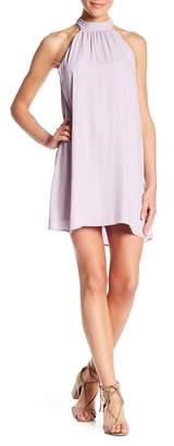 Lush Mock Neck Shift Dress