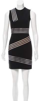 Christopher Kane Stripe-Accented Sleeveless Dress