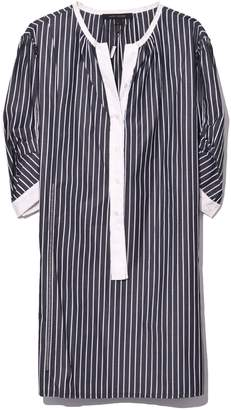 Marc Jacobs Mini Dress with Front Placket in Black/White