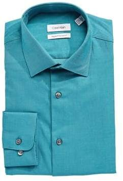 Calvin Klein Regular-Fit Solid Dress Shirt