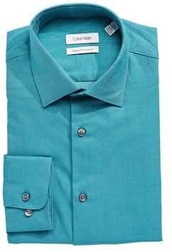 Calvin Klein Regular-Fit Solid Dress Shirt