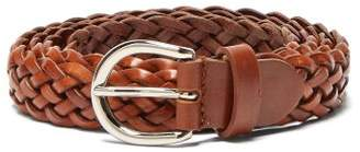 Giuliva Heritage Collection - Braided Leather Belt - Womens - Brown