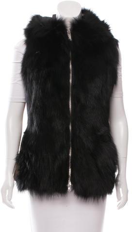 MonclerMoncler Lynette Fur-Trimmed Vest