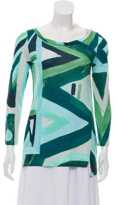 Emilio Pucci Long Sleeve Printed Top