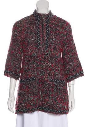 Chanel Tweed Heavyweight Sweater Grey Tweed Heavyweight Sweater