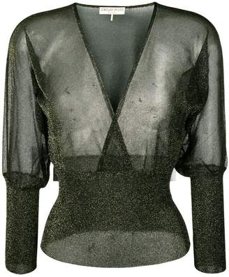 Emilio Pucci v-neck blouse
