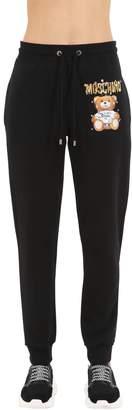 Moschino Logo Printed Cotton Jersey Sweatpants
