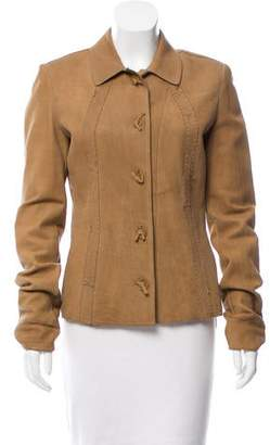 Bottega Veneta Suede Button-Up Jacket