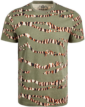 American Rag Men Tiger Camo Striped T-Shirt