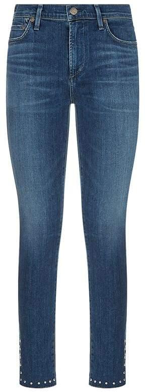 Rocket Studded High-Rise Skinny Jeans