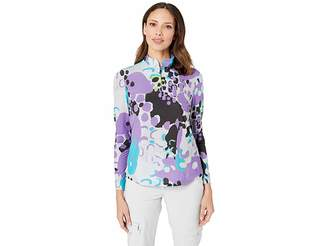 Jamie Sadock Sunsense(r) 50 UVP 1/4 Zip Long Sleeve Top with Zootopia Print