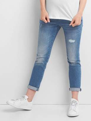 Maternity full panel distressed best girlfriend jeans $74.95 thestylecure.com