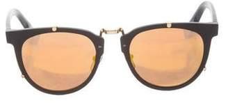 A Bathing Ape Mirror Round Sunglasses