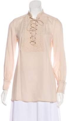 Givenchy Silk Long Sleeve Top