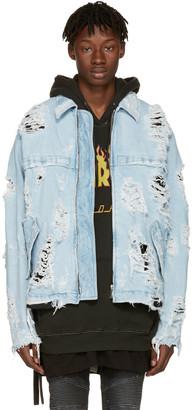Unravel Blue Distressed Denim Zip Jacket $1,775 thestylecure.com