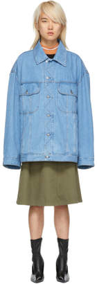 Acne Studios Blue Bla Konst Denim Oversized Unisex Jacket