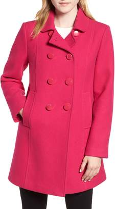 Kate Spade Double Breasted Twill Coat