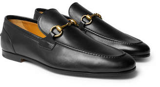 Gucci Horsebit Leather Loafers - Men - Black